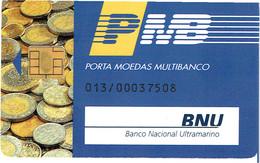PHONECARDS-PORTUGAL- PORTE MONNAIE- MULTIBANCO  CHIP--- BANK---BANCO NACIONAL ULTRAMARINO - Portugal