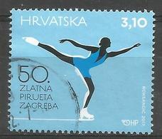 HR 2017-1298 ZLATNA PIRUETA, HRVATSKA CROATIA, 1 X 1v, Used - Kroatien
