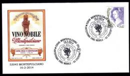 4.- ITALY ITALIA 2014. SPECIAL POSTMARK. WINE VINO NOBILE MONTEPUCIANO. VIN WIJN - Vinos Y Alcoholes
