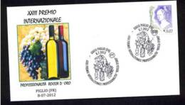 7.- ITALY ITALIA 2012. SPECIAL POSTMARK. VINO. VIJ, WINE. VIN. INTERNATIONAL PRIZE ROCCA D'ORO - PIGLIO - Vinos Y Alcoholes