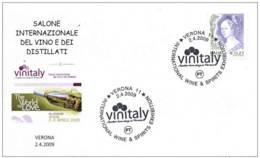 3.- ITALY 2009. SPECIAL POSTMARK. WINE AND DESTILLATES - VERONA - Vinos Y Alcoholes