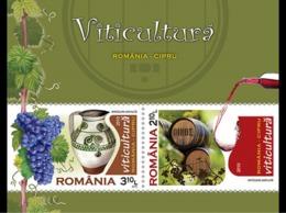 9.- ROMANIA 2010 Joint Stamp Issue Romania-Cyprus: Viticulture -Wine Vin Vino Wijn - Vinos Y Alcoholes