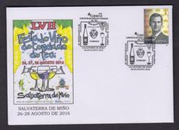 10.- SPAIN SPAGNE 2016 SPECIAL POSTMARK WINE VIJN VIN VINO VINI VIÑO DO CONDADO ENVELOPPE SIZE 114 X 162 - Vinos Y Alcoholes