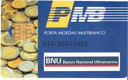 PHONECARDS-PORTUGAL- PORTE MONNAIE- MULTIBANCO  CHIP--- BANK--- BANCO NACIONAL ULTRAMARINO ( DIFFERENT ) - Portugal