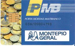 PHONECARDS-PORTUGAL- PORTE MONNAIE- MULTIBANCO  CHIP--- BANK--- MONTEPIO GERAL ( DIFFERENT ) - Portugal