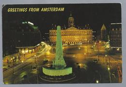 NL.- GROETEN UIT AMSTERDAM. GREETINGS FROM .... BUSSEN. PALEIS. MONUMENT. DAM - Gruss Aus.../ Gruesse Aus...