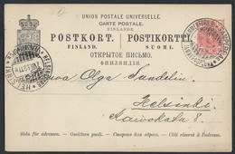 733d.Post Card. Passed 1899 Tampere (railway Station) Helsinki. Finland. Railway Post. Russian Empire - 1856-1917 Administration Russe