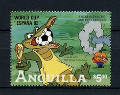 ANGUILLA 1982  Timbre Bloc N° 45 ** Neuf MNH Superbe C 11 € Coupe Du Monde Espana Animaux Crocodile BD W. Disney - Anguilla (1968-...)