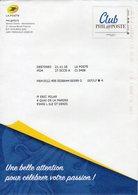 """Entier Postal Spécial Pour Club PHIL@POSTE - Repiquage Par Philaposte Timbre """" Club Philaposte """" Destineo MD4 195952 - Prêts-à-poster: TSC Et Repiquages Semi-officiels"""