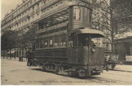 CPA - LES TRANSPORTS DE PARIS - TRAMWAYS A VAPEUR SYSTÈME PURREY  - CECODI - C'ÉTAIT LA FRANCE - REPRODUCTION - Transporte Público