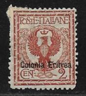Eritrea Scott # 20 Used Italy Stamp Overprinted,1903, Short Perf - Eritrea