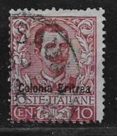 Eritrea Scott # 22 Used Italy Stamp Overprinted,1903, Short Perf - Eritrea