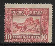 Eritrea Scott # 50 Mint Hinged Farmer Plowing,1914 - Eritrea