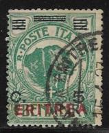 Eritrea Scott # 82 Used Somalia Stamp Overprinted, 1924 - Eritrea