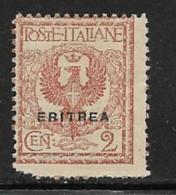 Eritrea Scott # 89 Mint Hinged Italy Stamp Overprinted, 1924, Corner Defect - Eritrea