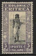 Eritrea Scott # 120 Unused No Gum Postman, 1930 - Eritrea