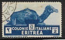 Eritrea Scott # 158 Used Camel, 1934, Thin - Eritrea