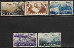 Eritrea Scott # C8,10-3 Used Various Designs, 1936, # C13 Has Round Corner - Eritrea