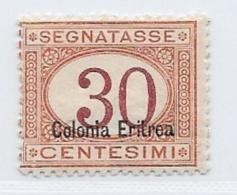 Eritrea Scott # J4a Mint Hinged Postage Due, 1920, CV$65.00 - Eritrea
