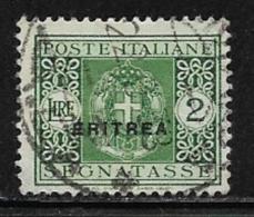 Eritrea Scott # J24 Used Italy Postage Due, Overprinted, 1934, CV$47.50 - Eritrea