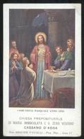 COMUNIONE PASQUALE - CHIESA DI CASSANO D'ADDA - 1935 -  SANTINO COMMEMORATIVO - HOLY CARD - Santini