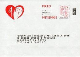 Pret A Poster Reponse PRIO (PAP) F F Assoc. De Chiens Guides D'Aveugles Agr.16P153 (Marianne Ciappa-Kavena) - Entiers Postaux