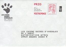 Pret A Poster Reponse PRIO (PAP) Les Chiens Guides D'Aveugles De L'Ouest Agr. 169963 - Ciappa-Kavena - Entiers Postaux