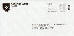 Pret A Poster Reponse ECO (PAP) Ordre De Malte Agr. 169225 - Ciappa-Kavena - Entiers Postaux