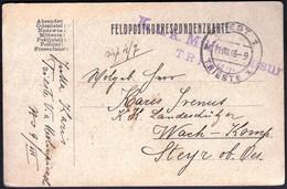 Italy Triest, Trieste 1916 / Feldpost, WW1 / K.u.K. Militarzensur Triest - 1. Weltkrieg