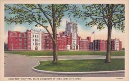 Iowa Iowa City University Hospital State University Of Iowa 1939 Curteich - Iowa City