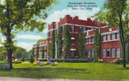 Iowa Iowa City Quadrangle Dormitory State University Of Iowa Curteich - Iowa City