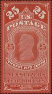 United States Scott #PR3a, 1865, Hinged - Newspaper & Periodical