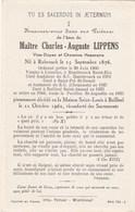 IMAGE PIEUSE MORTUAIRE  CHANOINE MAITRE CHARLES AUGUSTE LIPPENS  RUBROUCK 1876  BAILLEUL 1962 - Images Religieuses