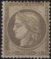 CERES 1871 N°56* 30c Brun Neuf Tres Frais, Signé Calves - 1871-1875 Cérès
