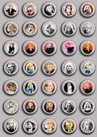 35 X Blondie Band-Deborah Harry Music Fan ART BADGE BUTTON PIN SET 2 (1inch/25mm Diameter) - Music