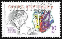 Czech Republic - 2012 - The Traditions Of Czech Stamp Production - Josef Liesler's Birth Centanary - Mint Stamp - Ungebraucht