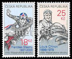Czech Republic - 2012 - Legends Of Masaryk Circuit In Brno - Louis Chiron And Frantisek Stastny - Mint Stamp Set - Neufs