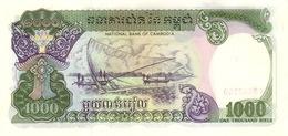 Cambodia P.38  1000 Riels 1992   Unc - Cambogia