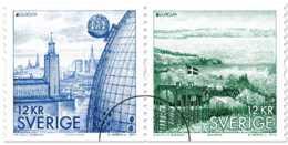 2012 Sweden - Europa CEPT Visiting Sweden 2 V Setenant - Mint Paper  MNH** MiNr. 2855 - 2856 - Suède