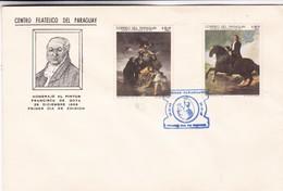 HOMENAJE AL PINTOR FRANCISCO DE GOYA-FDC 1969 PARAGUAY. 7 DIFFERENT STAMPS - BLEUP. - Arte