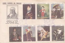 HOMENAJE AL PINTOR FRANCISCO DE GOYA-FDC 1969 PARAGUAY. 2 DIFFERENT STAMPS - BLEUP. - Kunst