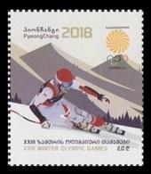 Georgia 2018 Mih. 708 Olympic Winter Games In Pyeongchang. Alpine Skiing MNH ** - Georgia