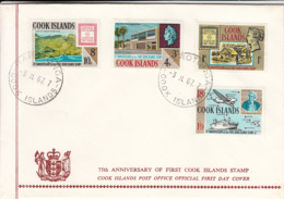 Cook Islands 1967 FDC Sc #195-#198 75th Anniversary First Postage Stamps - Cook