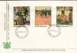 Cook Islands 1967 2 FDCs Sc #221-#226 Paintings By Paul Gauguin - Cook