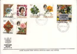 Cook Islands 1968 FDC Sc #B1-#B7 Hurricane Relief Surcharge - Cook