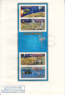 Cook Islands 1972 FDC Sc #B24c Sheet Of 8 Surcharges Hurricane Relief On Apollo Moon Explorations - Cook