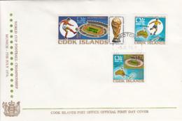 Cook Islands 1974 FDC Sc #403-#405 Soccer World Cup Munich - Cook