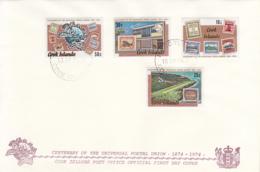 Cook Islands 1974 FDC Sc #408-#411 UPU Centenary - Cook