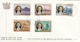 Cook Islands 1974 FDC Sc #417-#421 Sir Winston Churchill - Cook