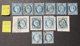 Lot Cérès N° 60A/60C  Avec Oblitération D'Epoque  TB - 1871-1875 Cérès